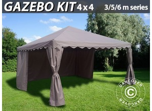 Gazebo Kit 4x4 m for Marquee, 3, 5, 6 m series, Sand