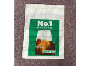 RARE, vintage 1970's UNUSED carrier bag, Holsten. Breweriana collectable