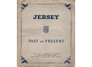 JERSEY PAST AND PRESENT Ching's Cigarette Cards - Set of 24 Jersey Past and Present 3rd Series 1961. Photo-corner mounted in official album