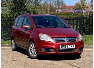 Vauxhall Zafira, 2006 (55) Red MPV, Manual Petrol, 143,804 miles, NEW MOT, new clutch, serviced, 7 SEATS