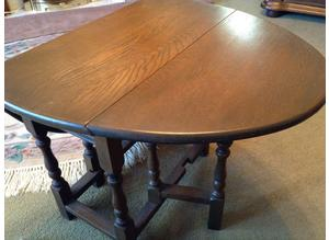 Old charm oval Oak Folding  occasional Table