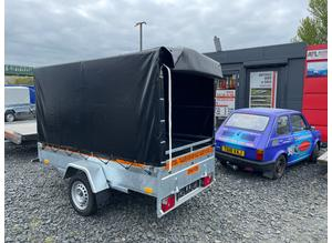 BRAND NEW 8.2 X 4.3 SINGLE AXLE MASTER BORO TRAILER WITH FRAME AND COVER 150CM 750KG