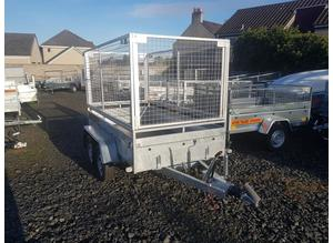 BRAND NEW MODEL 8.2 X 4.3 DOUBLE AXLE MASTER BRAKED TRAILER WITH 100CM MESH 1300KG