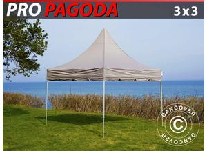 Pop up gazebo FleXtents PRO Peak Pagoda 3x3 m Latte