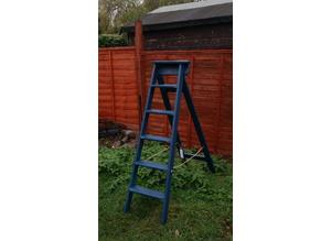 Vintage set of  1947 wooden ladders