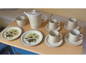 Unused 16 piece Poole pottery, 1970's tea, coffee, breakfast set