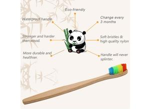 PACK OF 10 INDIVIDUALLY BOXED BAMBOO ECO FRIENDLY ADULT TOOTHBRUSHES - NEW TO THE U.K!!