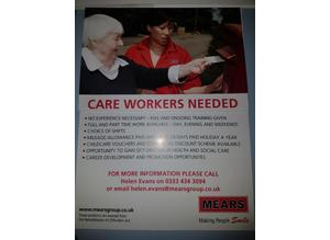 Care Workers Required