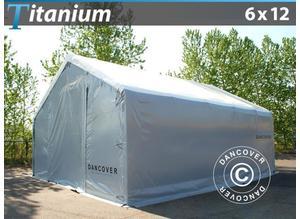 Storage shelter Titanium 6x12x3,5x5,5 m, White / Grey