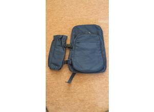 Navy Backpack with detachable water bottle holder
