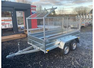 BRAND NEW MODEL 8.7 x 4.2 DOUBLE AXLE WITH 80CM MESH TRAILER