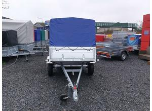 BRAND NEW 7.7x4.2 SINGLE AXLE TRAILER- CAMPING TRAILER WITH FRAME AND COVER (80cm) TIPPING