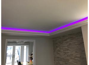 Lightweight COVING LED Lighting Polystyrene CORNICE MOLDINGS Home Decor, DIY 3D Panels Exterior Mouldings www.14th.eu
