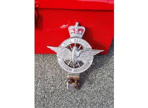 vintage car badge civil service motoring association
