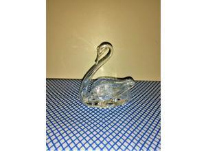 Tutbury vintage fine Crystal Glass Swan.