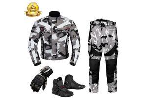 (Camo Grey) 6 Packs Design Suit - Jacket + Trouser + Gloves + Boots (Short)