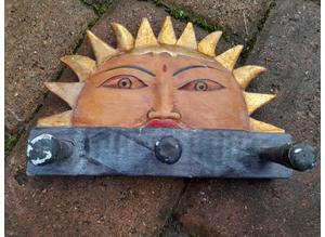 Decorative Hand Crafted Wooden Key Rack