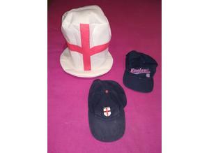 Job Lot England Hats x 3