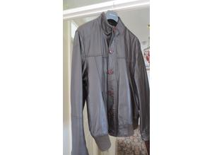 Brown Soft Leather Jacket Size XL