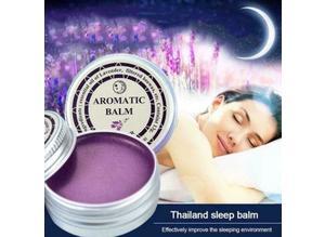 LAVENDER AROMATHERAPY BALM AIDS RESTFUL SLEEP (INSOMNIA) & HELPS RELIEVE STRESS.