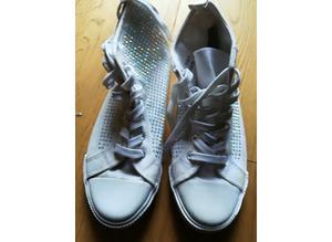 Ladies Sparkly Canvas Size 7 Shoes