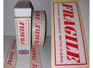 Fragile Labels stickers 80mm x 34mm 1000 On A Roll