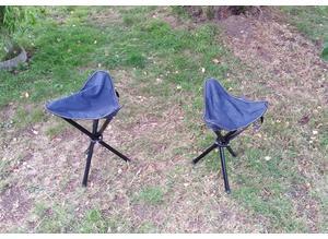 Two picnic/camping stools