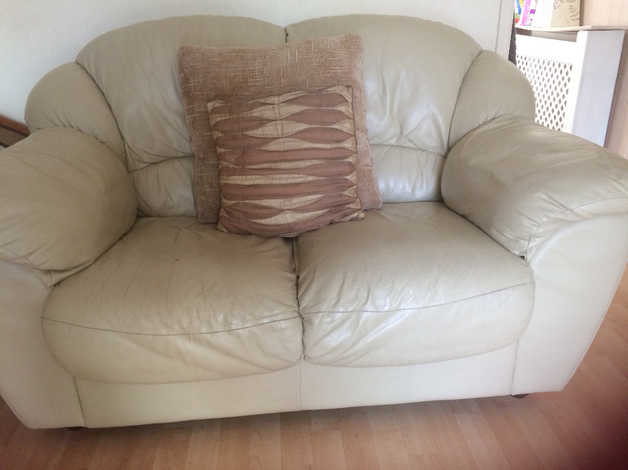 free** Cream Leather 2 Seater Sofa | in Newport Casnewydd ...