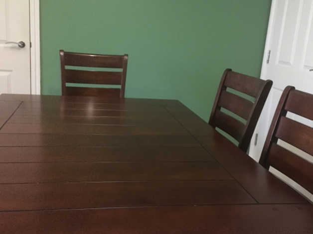 Cool Retro Wood And Tile Dining Table X6 Chairs Onthecornerstone Fun Painted Chair Ideas Images Onthecornerstoneorg